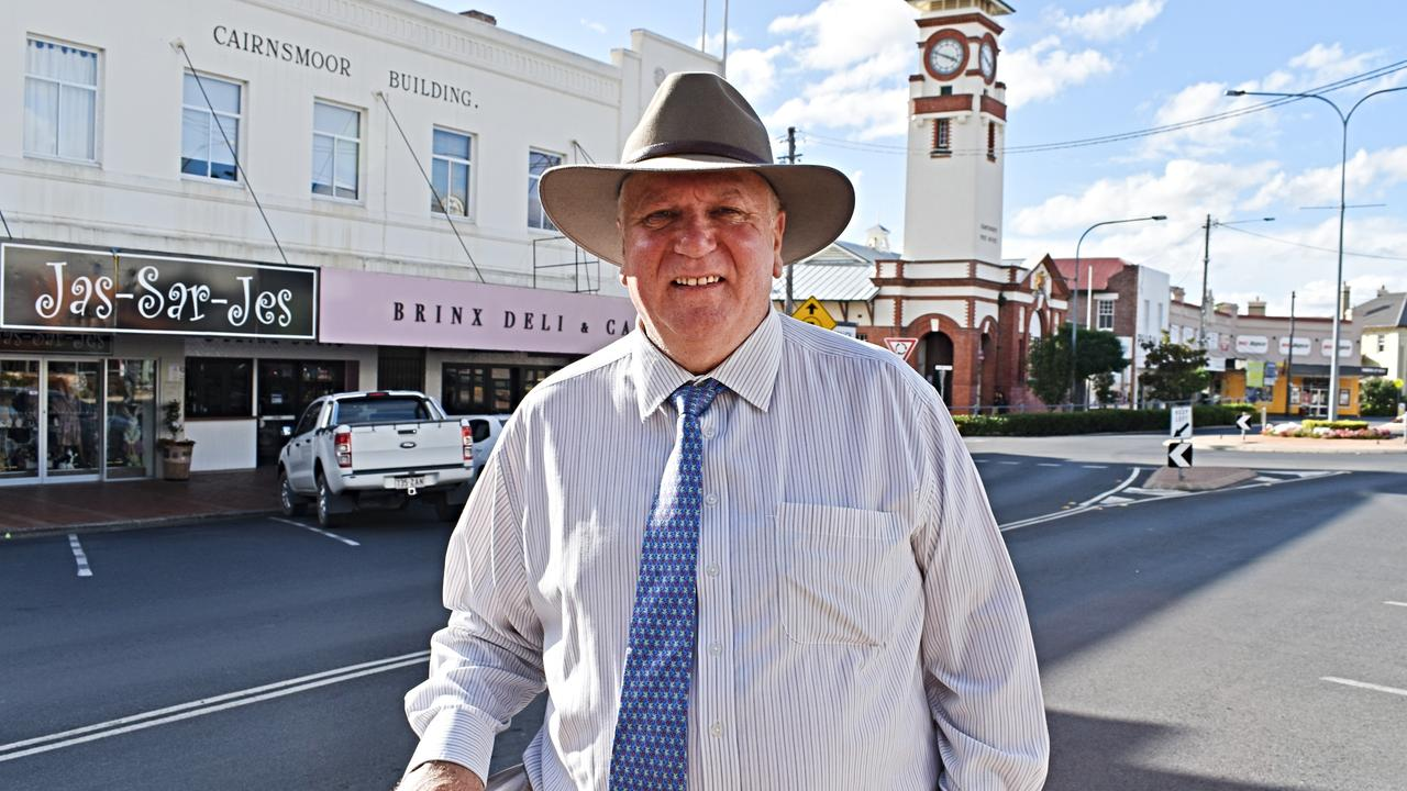 Southern Downs mayoral candidate Vic Pennisi earlier today. Picture: Matthew Purcell