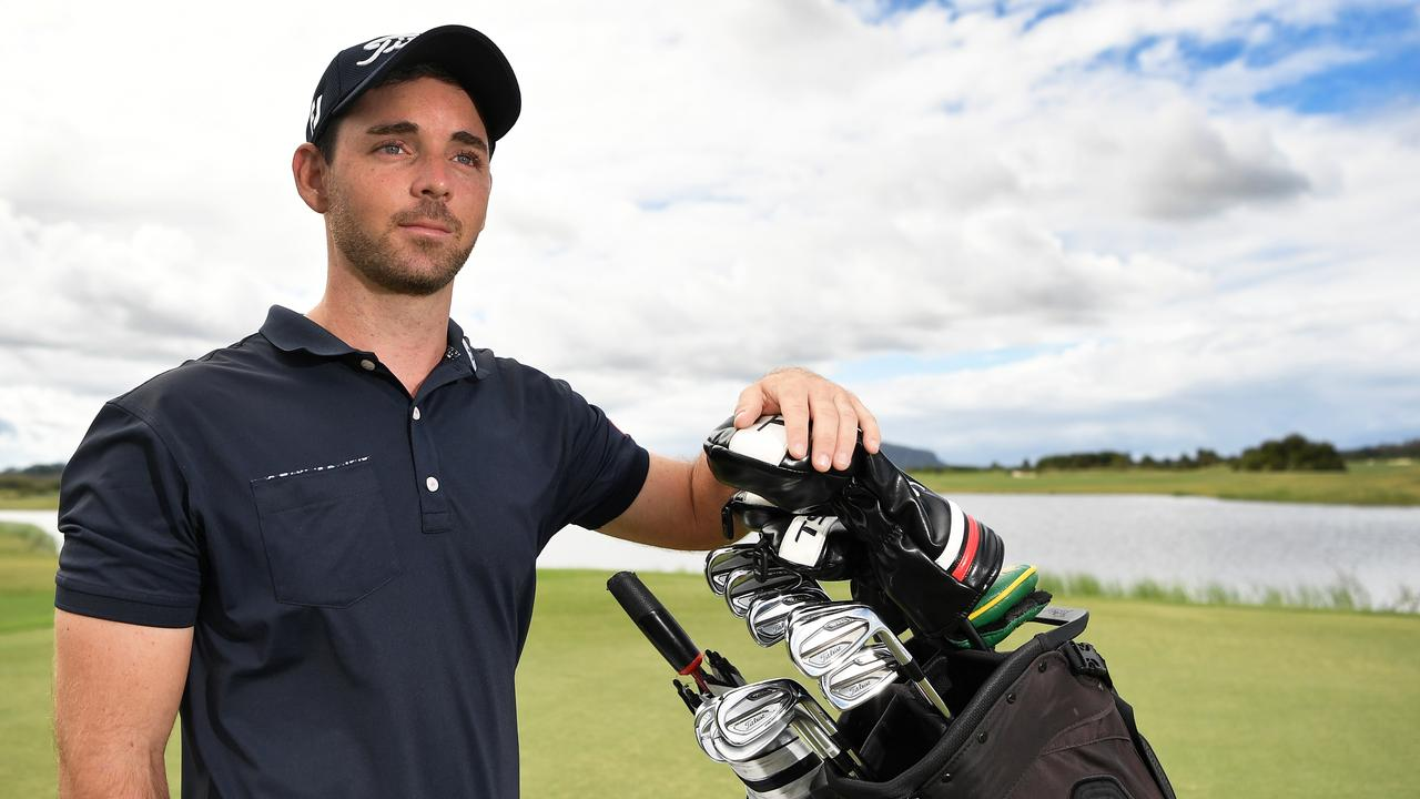 Pro golfer Charlie Dann is in limbo with no events due to coronavirus. Remaining upbeat about situation. Photo Patrick Woods / Sunshine Coast Daily.