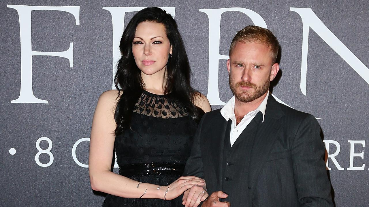 Prepon and husband Ben Foster. Picture: Getty