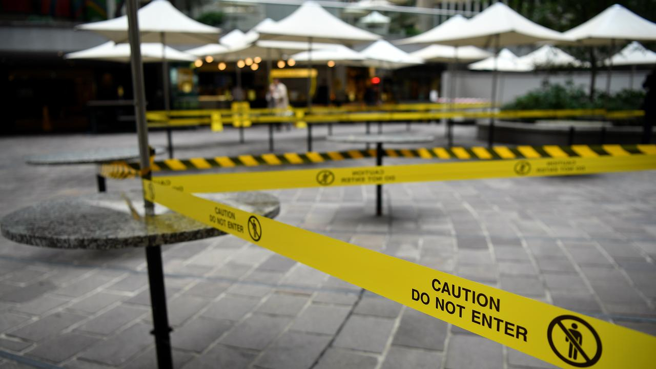 Restaurant seating areas have been closed off after the government announced tough new measures. Now many are without a job.