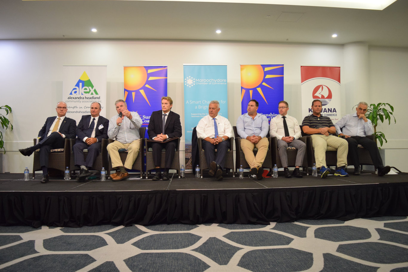 Mayoral and Division 4 candidates at a Sunshine Coast Daily election forum in Maroochydore.