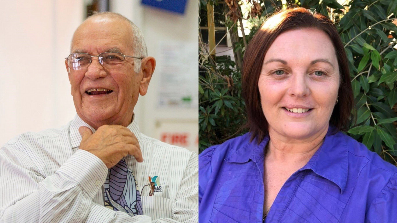Isaac Regional Council division two candidates Nick Wheeler and Sandy Moffat ran in the 2020 council elections.