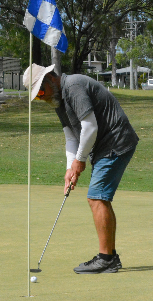 Image for sale: GOLF CHAMPS: The final round of the Gladstone Golf Club Championship: Mark Single putts