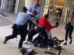 Security guards attacked at shopping centre