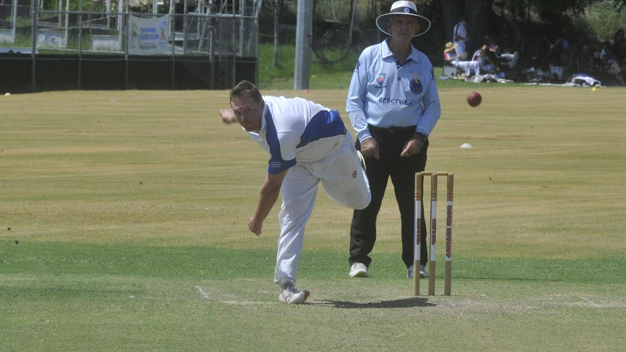 Tuc-Cop GI's Rohan Hackett during the Clarence River Cricket Association GDSC Premier League match between Tuc-Cop GI Hotel and Westlawn East at Lower Fisher Park on Saturday, February 1, 2020.