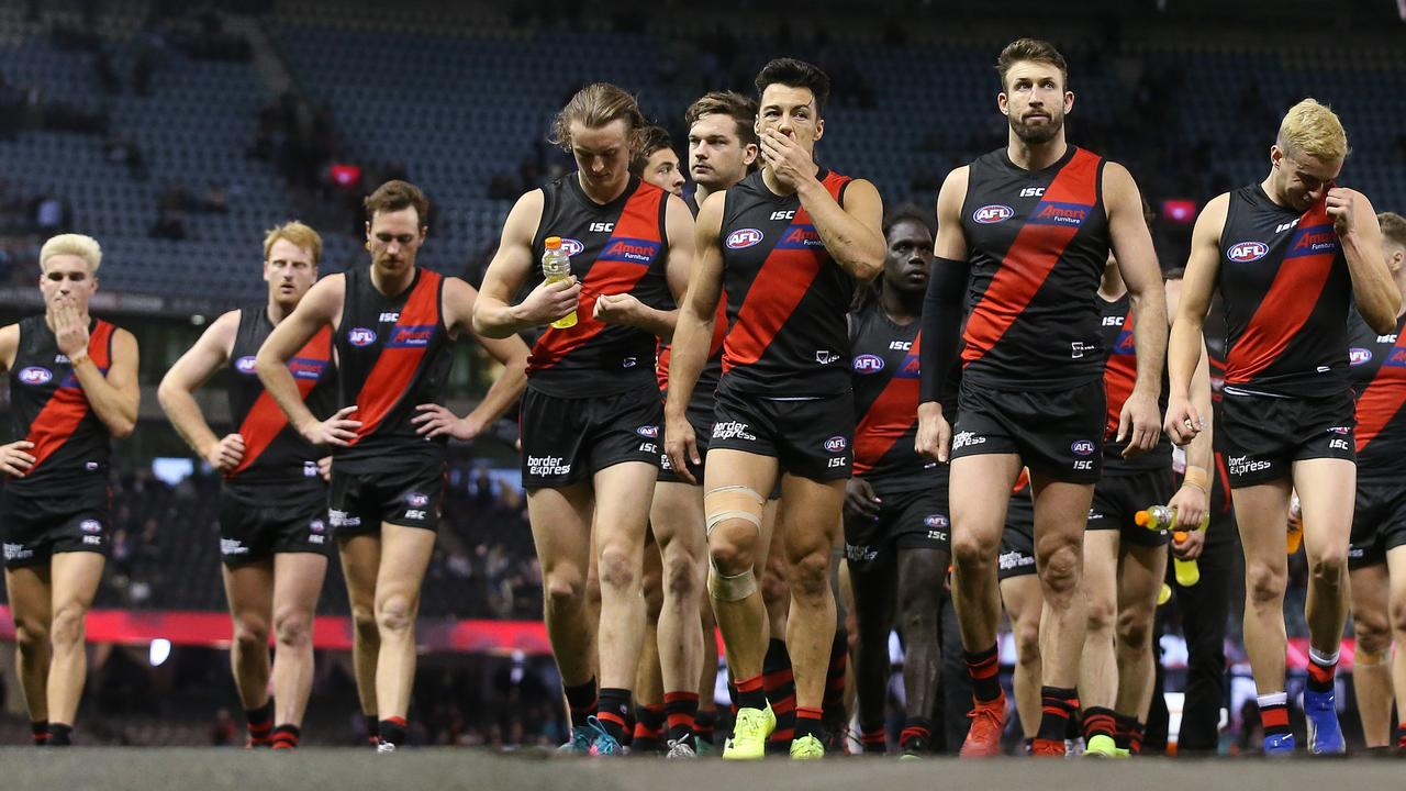 Essendon has endured a diabolical decade. Picture: Michael Klein
