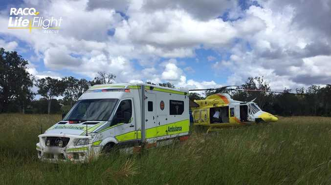 Man airlifted to hospital, after incident involving wallaby