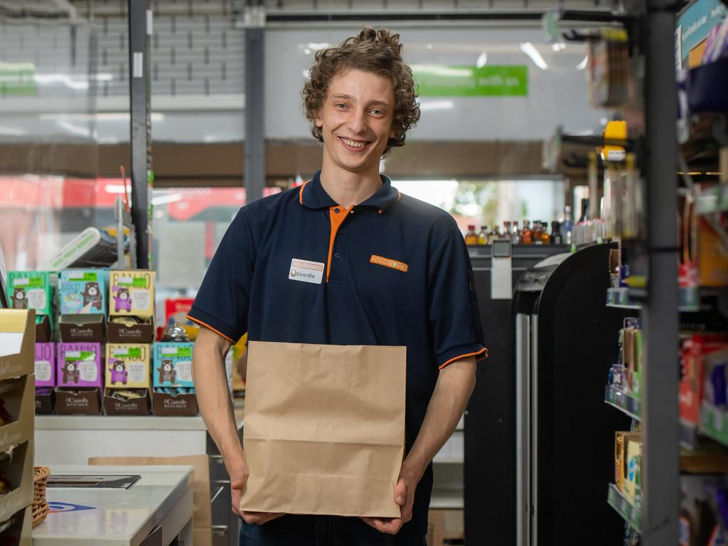Geordie Wellington, a retail assistant at Foodworks Elwood, said while some customers were understanding about stock levels, others weren't. Picture: Jason Edwards