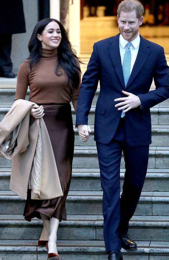 The couple announced in January they were stepping back as senior members of the royal family. Picture: Chris Jackson/Getty Images
