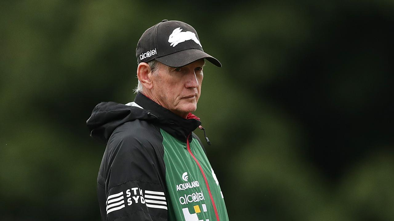Rabbitohs head coach Wayne Bennett is one of the game's most respected figures, but he's not been invited to Monday's meeting. Picture: Getty