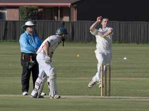 Shaun McCarthy bowls for Wests. A Grade cricket