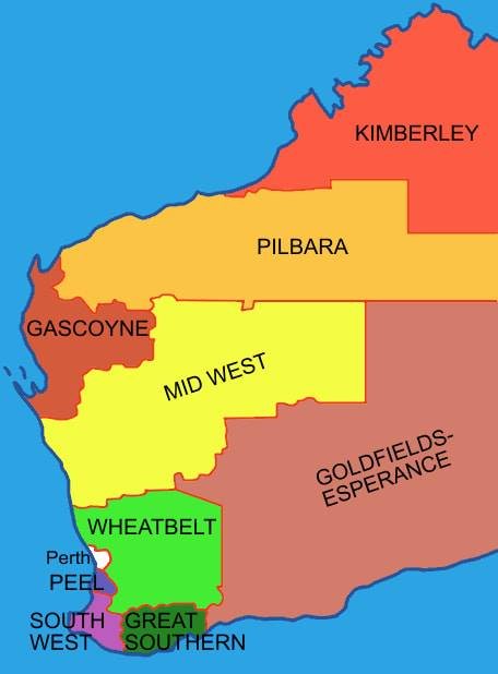The regions of Western Australia to be locked down on Tuesday, March 31.