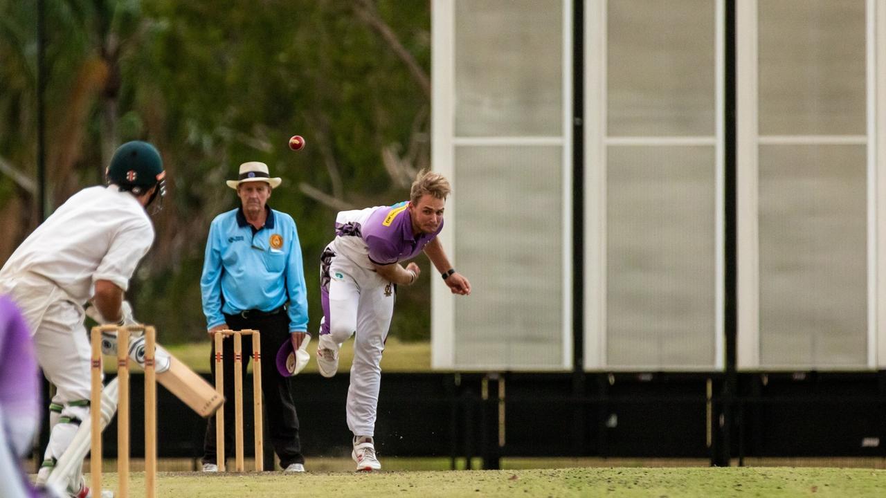 Pottsville fast bowler Mika Ekstrom.Photo: Ursula Bentley@CapturedAus