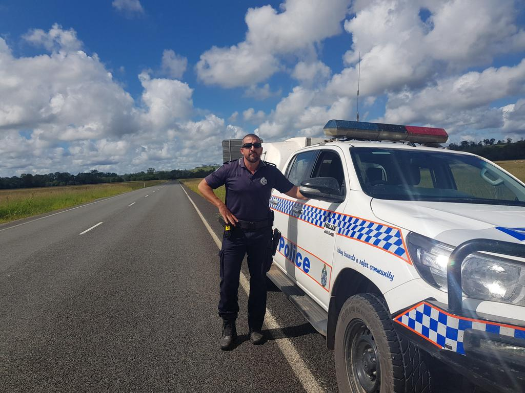 Imbil Police Acting Sergeant Bill Greer has thanked a Noosa firefighter for his assistance after an alleged violent struggle broke out when he arrested a man on a rural road.