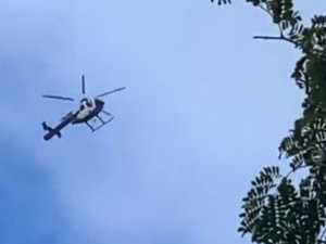 Mystery chopper 'hovering' above raises eyebrows