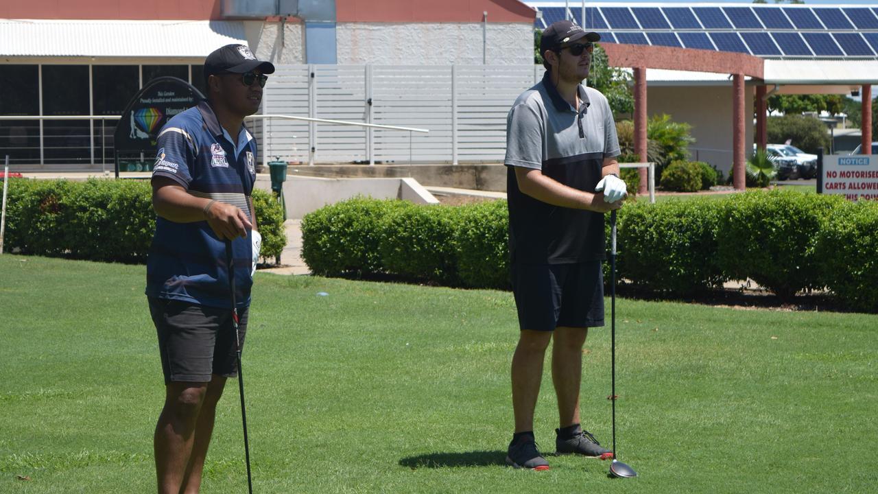 Golfers earlier in the year.