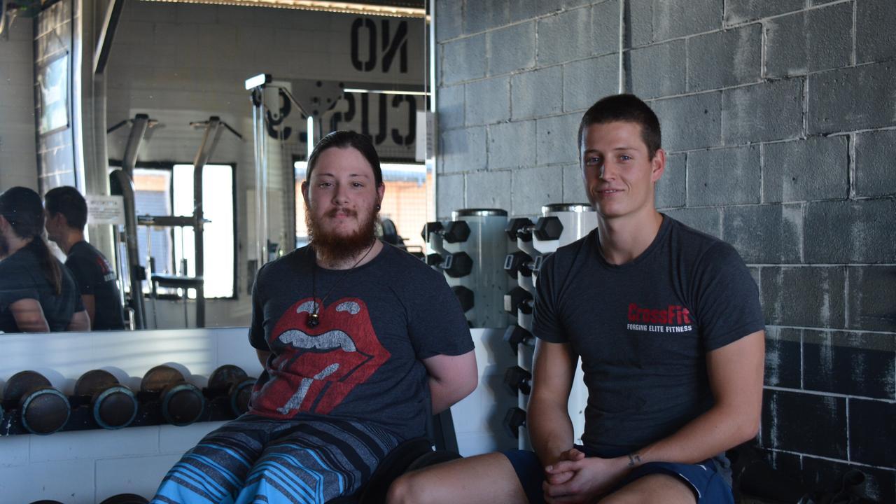 Liam Jorgensen with Conquer gym owner Christian Sutton. Photo: File