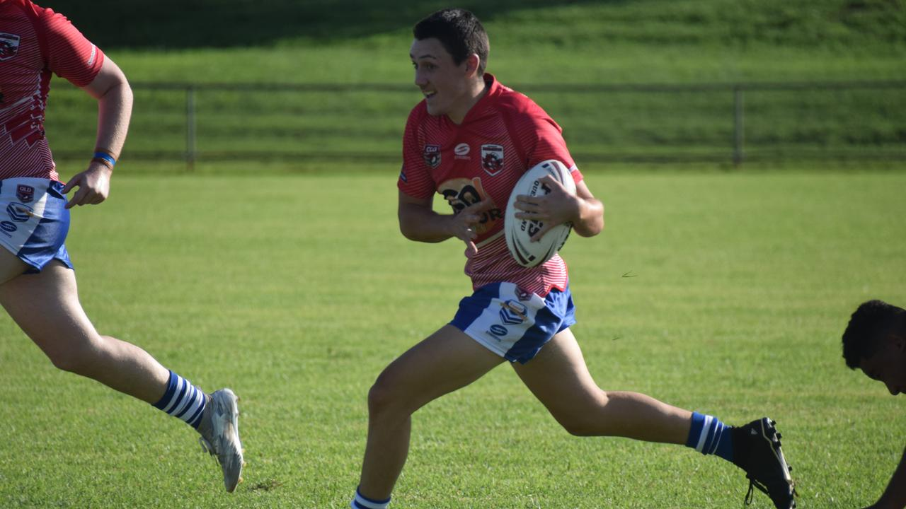 South Burnett Eagles halfback Matt Mladenovic in a pre-season match at the Kingaroy Red Ants home base. (Picture: Tristan Evert)