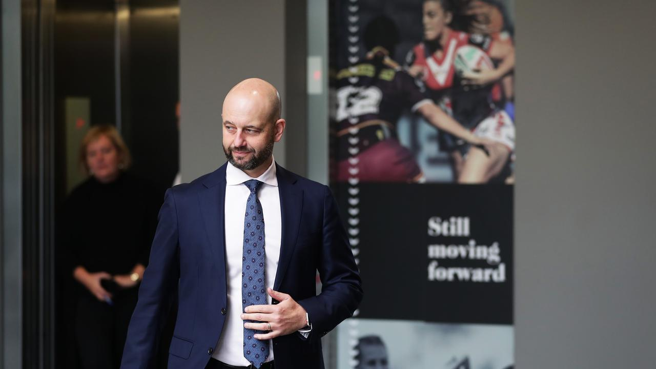 A man under pressure... NRL CEO Todd Greenberg faces the music this week. Picture: Getty