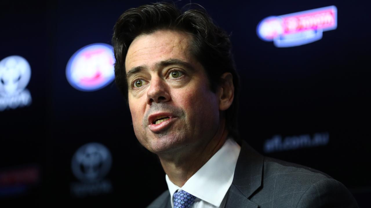 AFL boss Gillon McLachlan has secured a line of credit for the AFL. Picture: Getty Images
