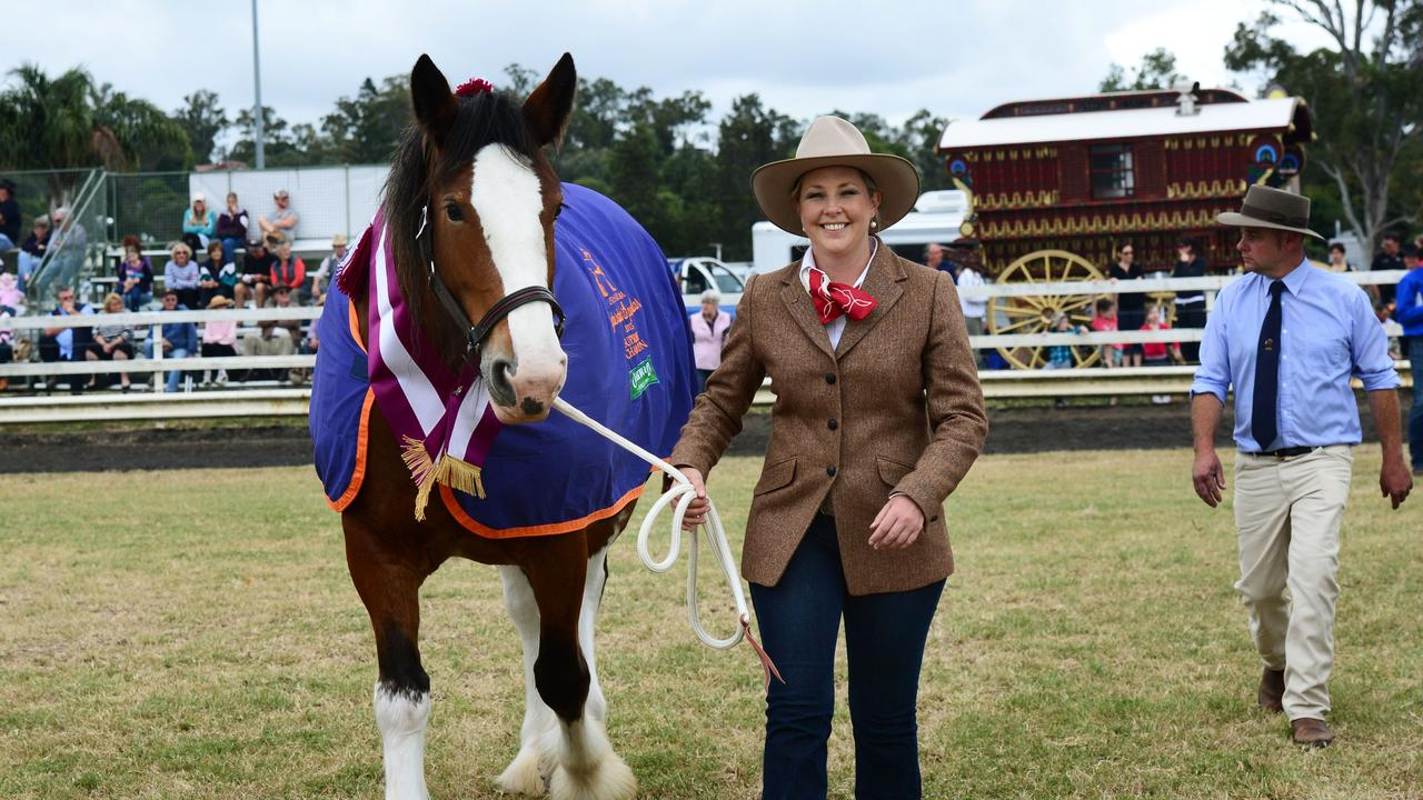 Greta Stanfield with her horse Emily at one of the past events at the Boonah Showgrounds. Photo: David Nielsen / The Queensland Times