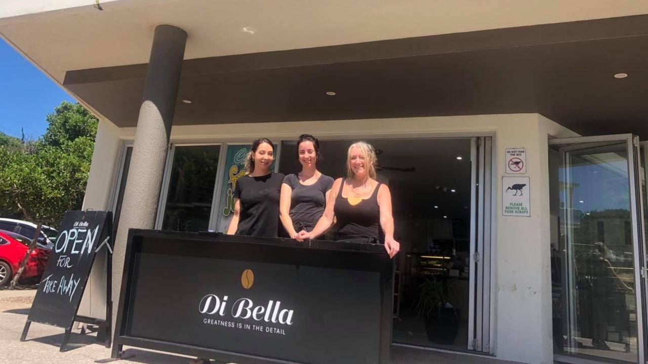 Coco's Currimundi owner Debbie Salem (right) with daughter and daughter-in-law Rebecca and Gina say they'll get through the uncertain times. Photo: Ashley Carter