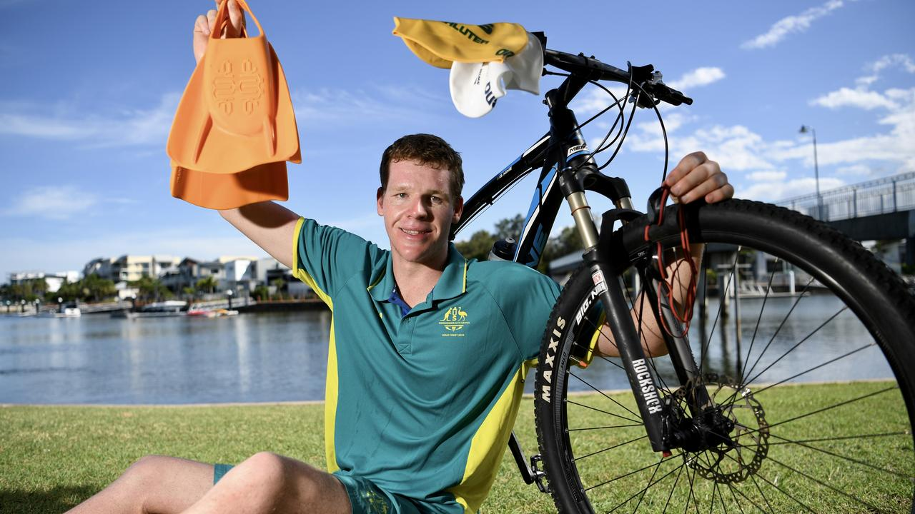 Paralympian Liam Schluter is keeping fit and active despite his pool being closed. Picture: Warren Lynam