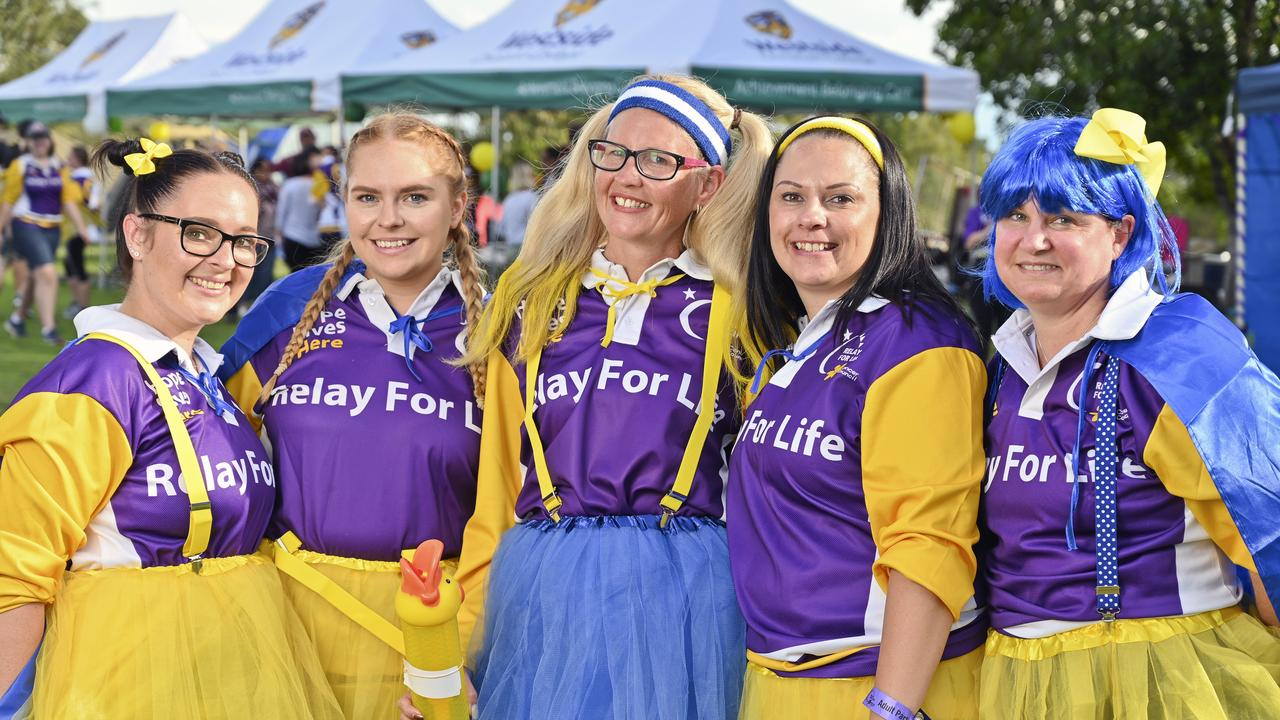 Grace, Ashleigh, Vanessa, Megan and Belinda of BOQ at the Ipswich Relay for Life event in 2019.