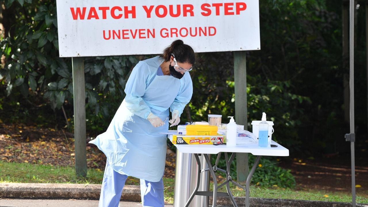 Suncoast Christian Health Care worker RN Lindley Mattiazzi tests for COVID-19. Photo: John McCutcheon