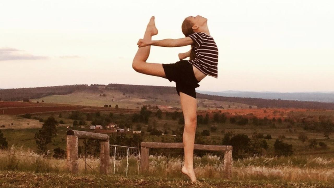 Kingaroy Dance Academy student Indianna Bruce expresses her love for dance.