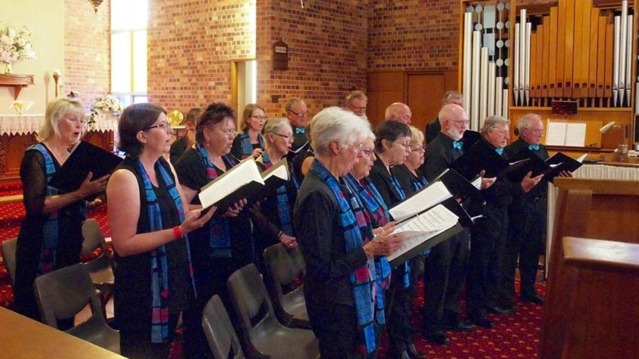 THEY'LL BE BACK: Granite Belt Choir members performing in the Musical Quiet Hour at St Paul's Anglican Church during this year's Apple & Grape Festival.