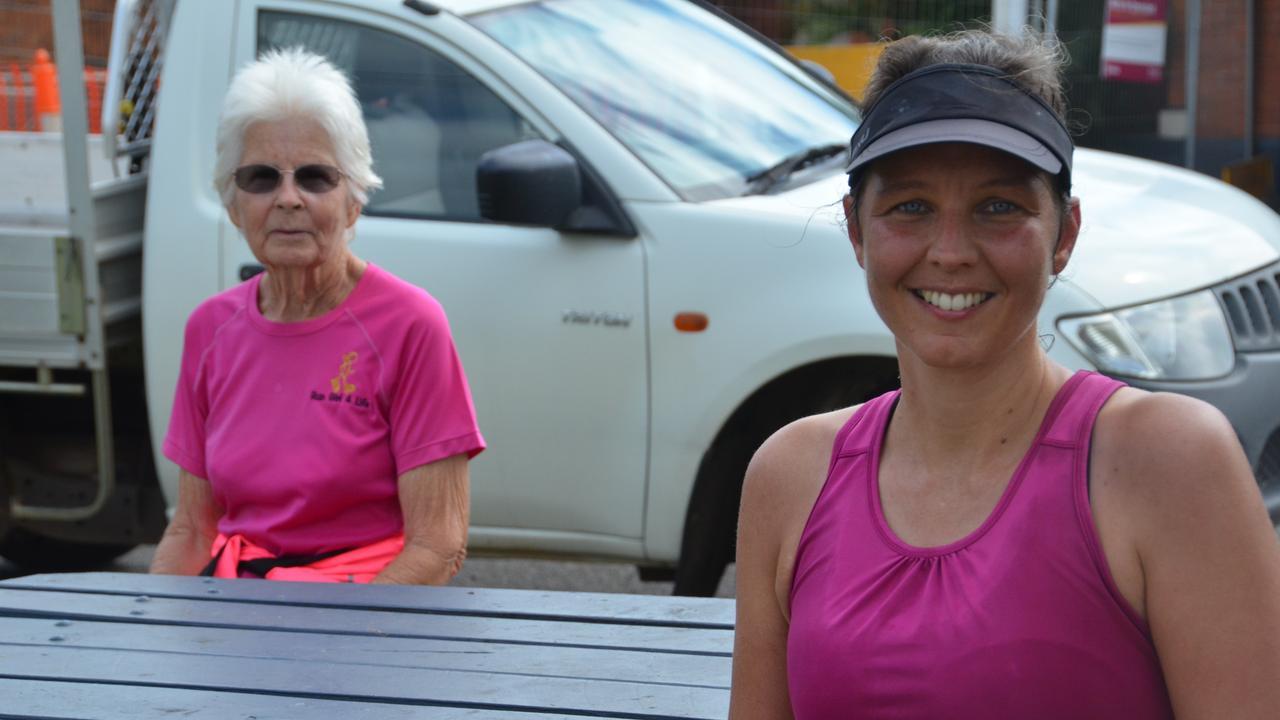 GO GETTA GIRLS: Angela Clarke and Michelle Hansen run together every week. Photo: Madeline Grace