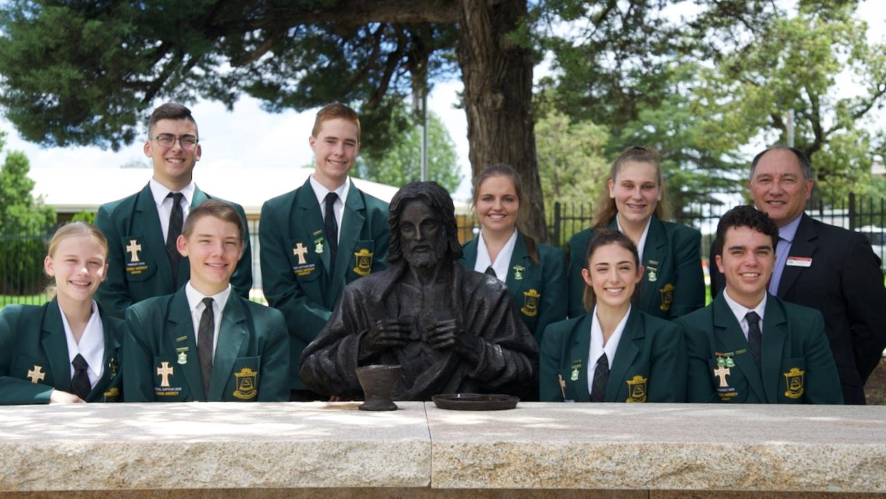 GRADUATING FEARS: St Joseph's School Student Leader Induction in February 2020.