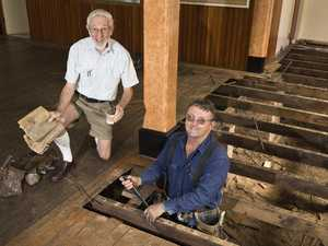 Amazing discovery at heritage-listed hall