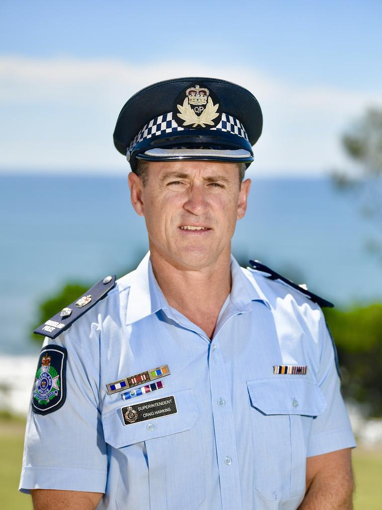 Craig Hawkins has replaced Darryl Johnson as head of the Sunshine Coast Police.