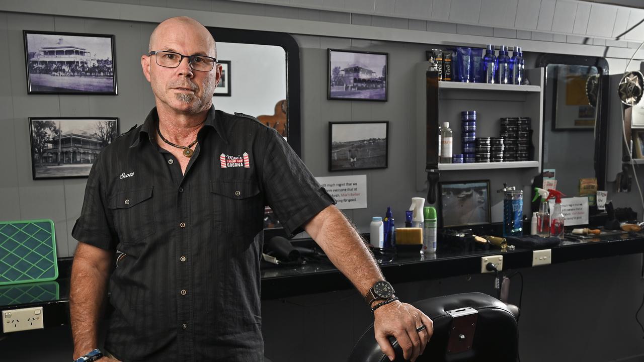 Max's Barber Shop owner Scott Jones. Picture: Cordell Richardson