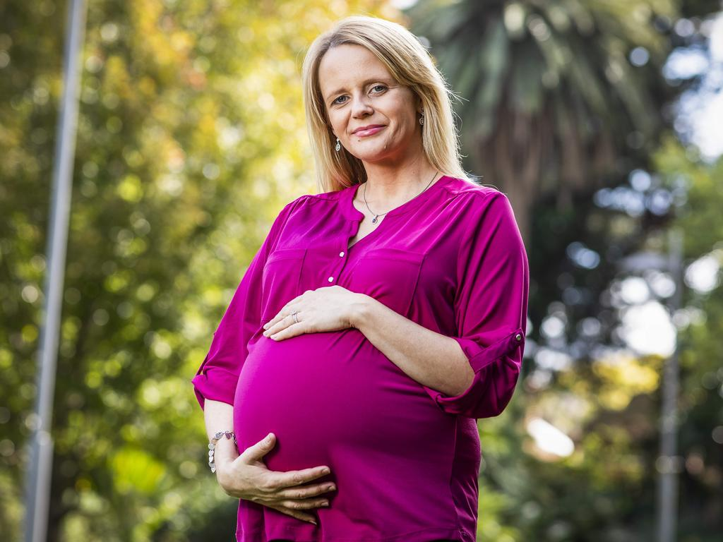 "Choreographer Katie Ditchburn, 40, is 31 weeks pregnant and says ""it's been very interesting being pregnant through this pandemic. Picture: Nicole Cleary"