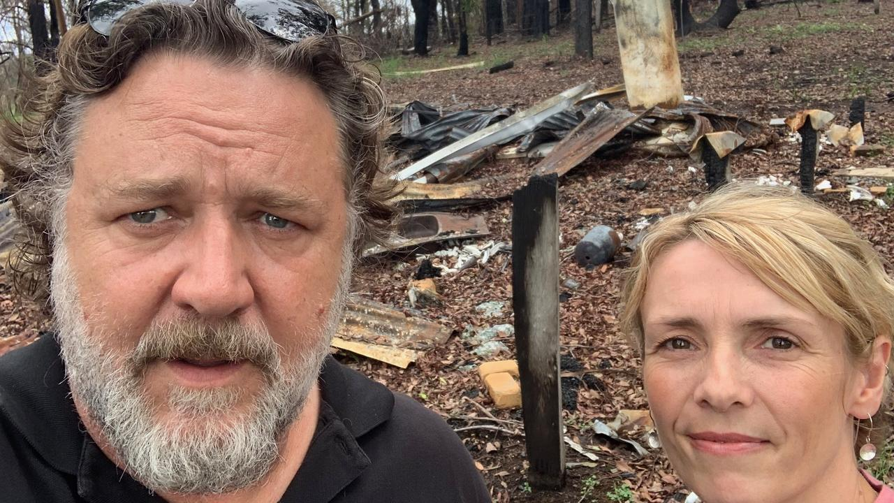 Russell Crowe with Natalie Egleton, Foundation for Rural and Regional Renewal