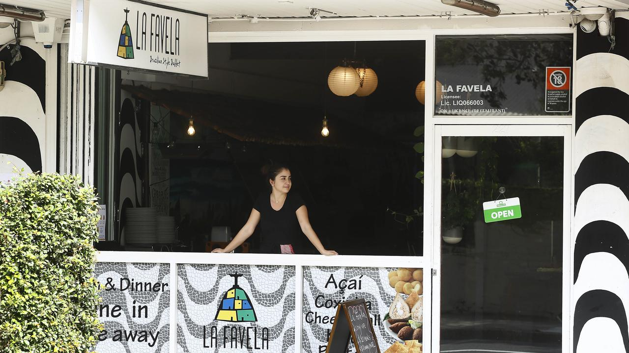 Waiting for take-away customers at La Favella on Bondi Road. Picture: John Appleyard
