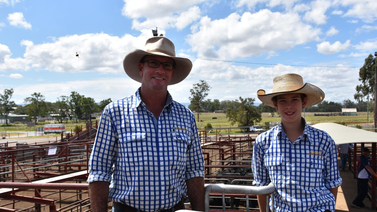 LIKE FATHER LIKE SON: Michael and Innes Nowlan at last week's sale amid the growing concerns of coronavirus.