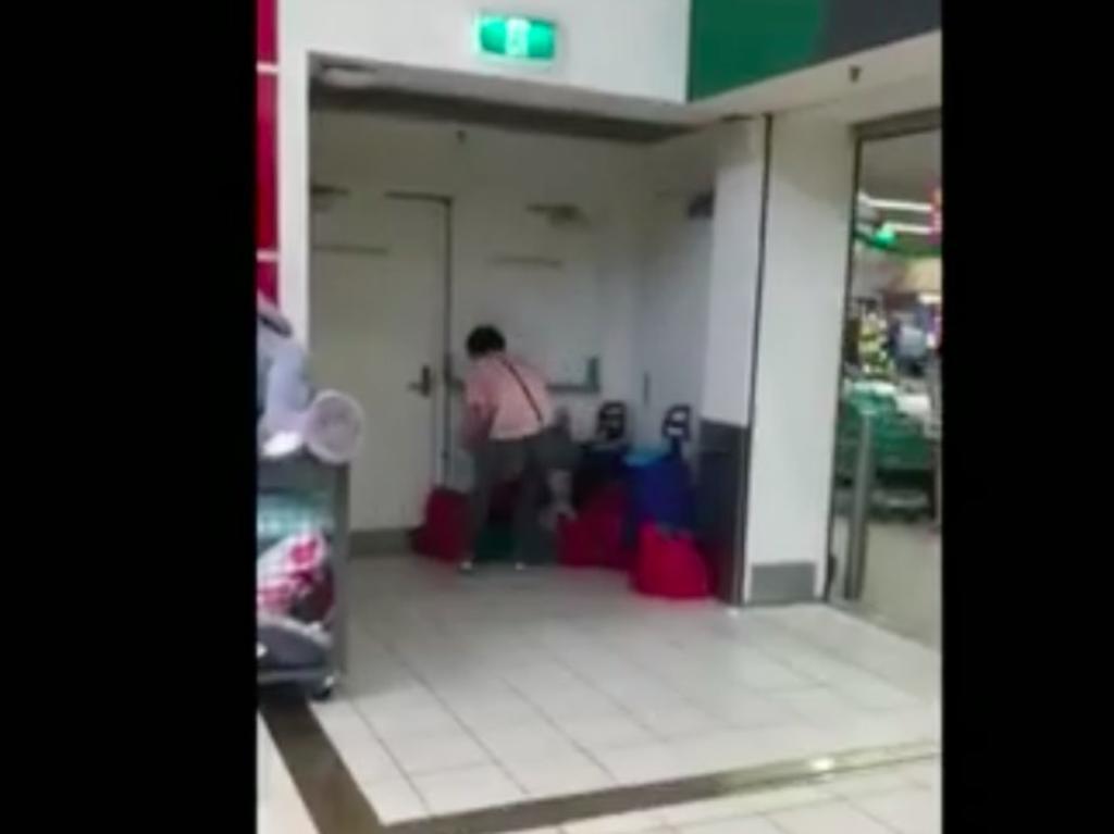 Shoppers strip supermarket shelves as part of the scheme. Picture: A Current Affair