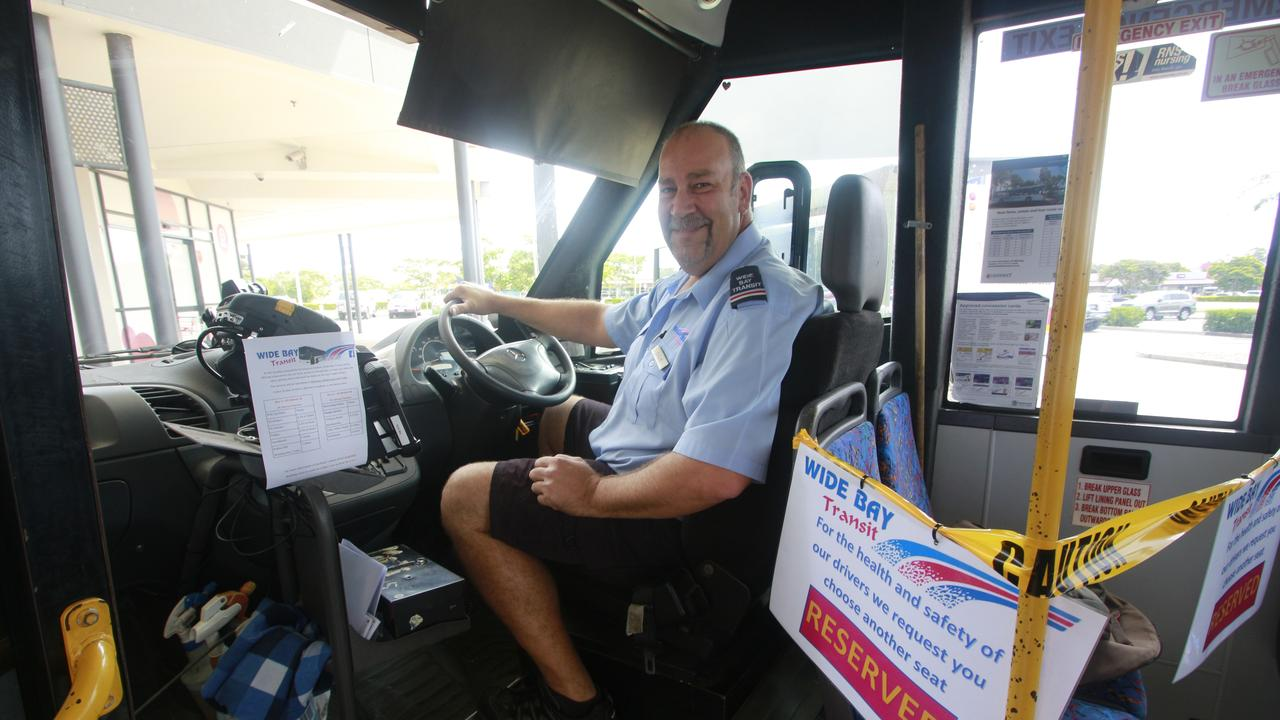 EARLY BOARDING: Wide Bay Transit bus driver Dave Brannelly will help with early morning pick ups for senior citizens.
