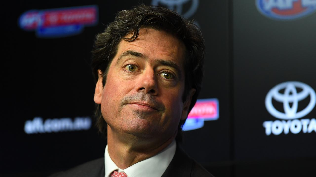 Gillon McLachlan has guaranteed all 18 clubs will survive the COVID-19 hiatus. Picture: Getty Images