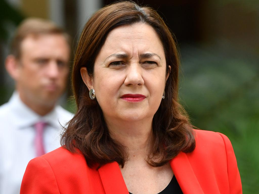 Queensland Premier Annastacia Palaszczuk said 50,000 people had been warned they may have been exposed to the virus. Picture: Darren England/AAP