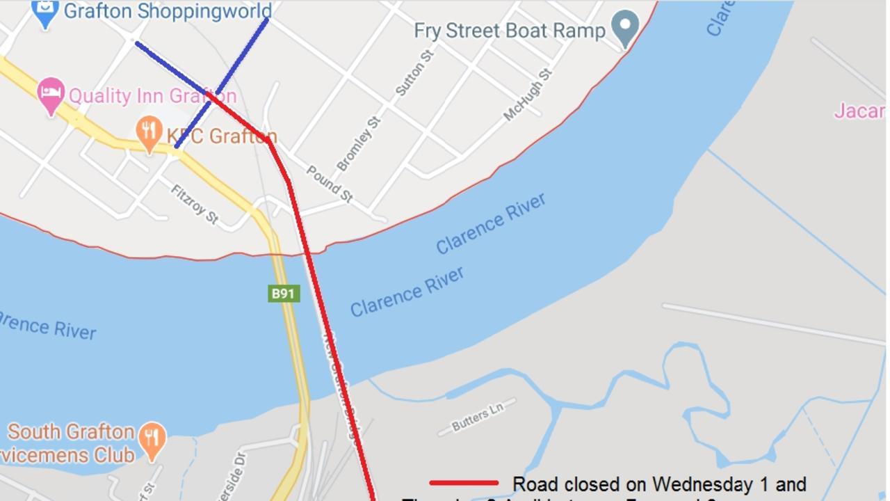 Detour arrangements for new bridge night closure