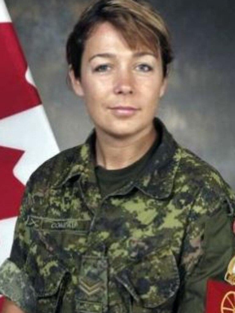 Corporal Marie-France Comeau.