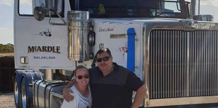 Sarah Hullah is doing what she can to help other truckies as she knows what it's like for them on the road – her husband Tim Hullah is a truck driver.