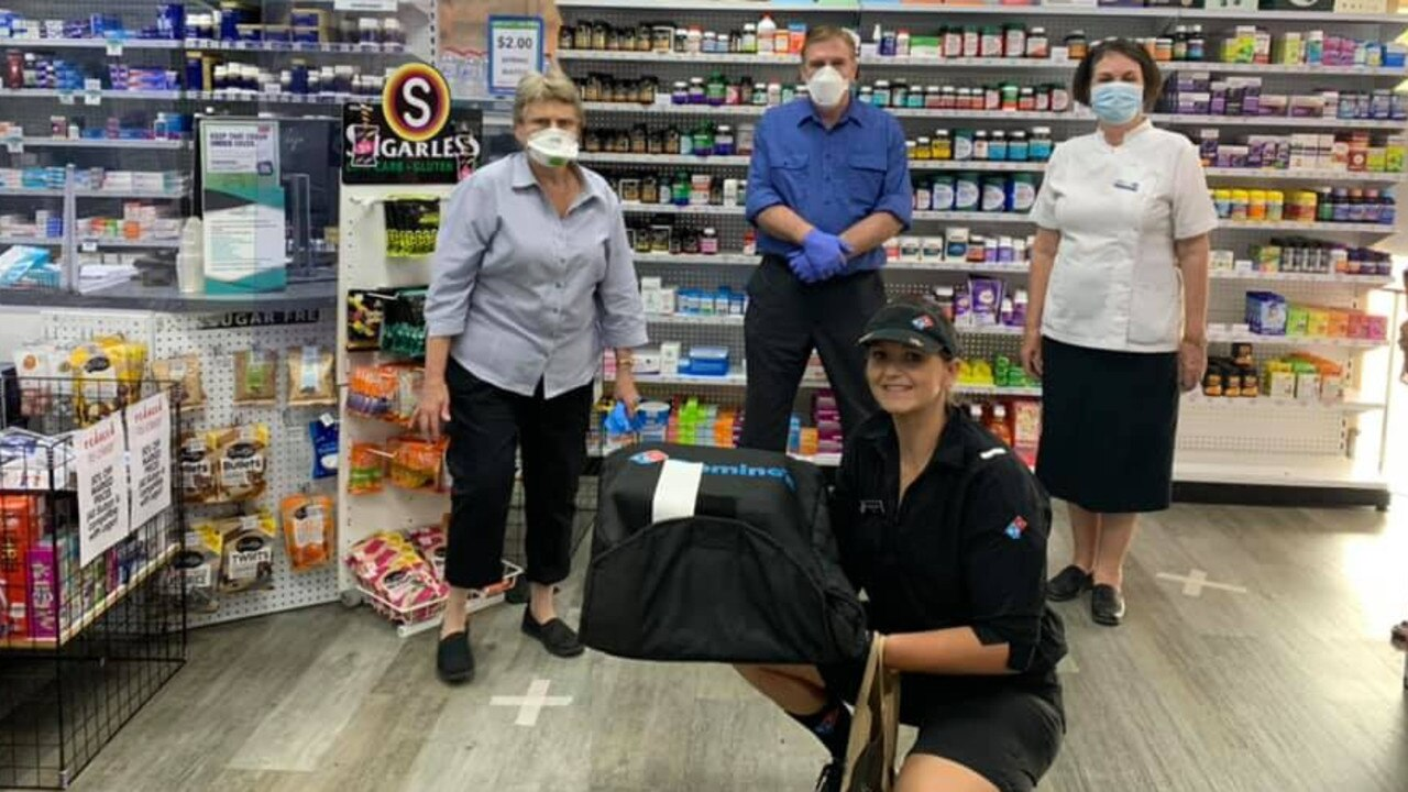 DELIVERY: The staff at Action Health Pharmacy were so thankful by the delivery from Chinchilla Dominos Shift runner Danielle Rogers.
