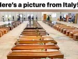 Truth about viral Italy coffin photo