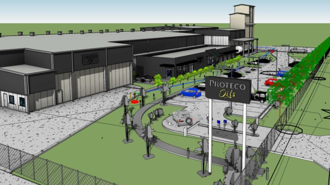 A front-on view of the Proteco Oils expansion plans. Photo: Proteco Oils